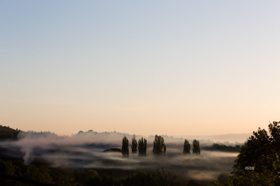 Photo du jour: fumée sur la vallée du Bédat